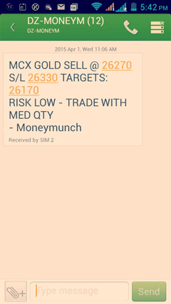 Gold tips sms
