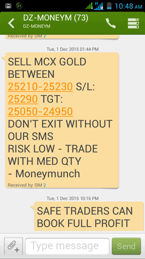 Gold SMS Tips