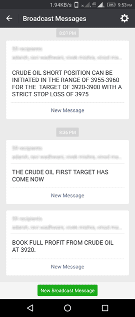 Free Crude Oil Tips