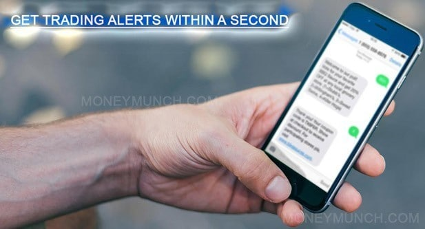 get trading alerts / sms tips