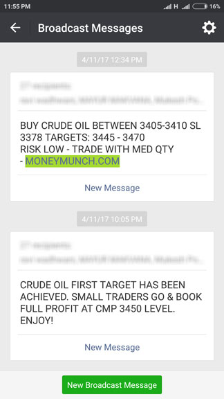mcx crude oil tips by sms