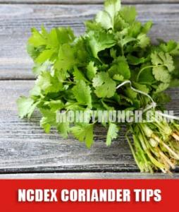 ncdex coriander tips